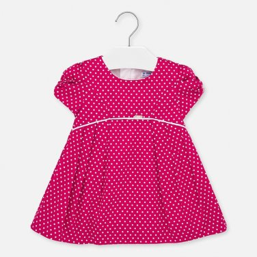 Φόρεμα πουά φούξια