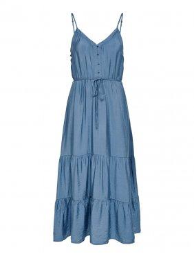 Φόρεμα MIDI μπλε ραφ