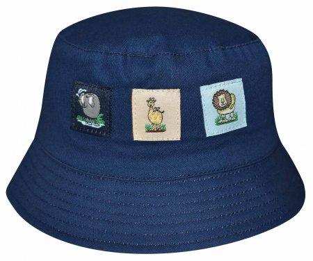 """Στρογγυλό καπέλο """"Friends at the Zoo"""" μπλε"""