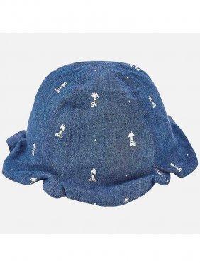 Καπέλο διπλής όψης με βολάν