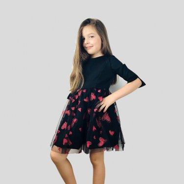 Φόρεμα μαύρο με τούλι