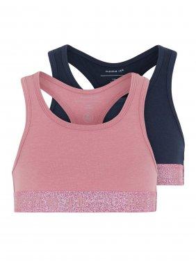 Σετ 2 τμχ μπουστάκια αθλητικά Ροζ