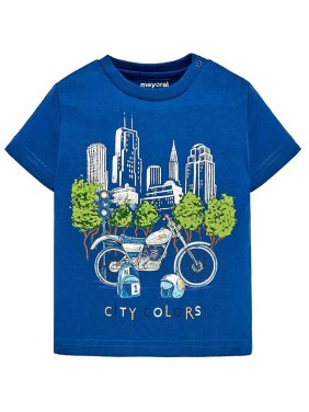 """Μπλούζα κοντομάνικη """"city colors"""""""
