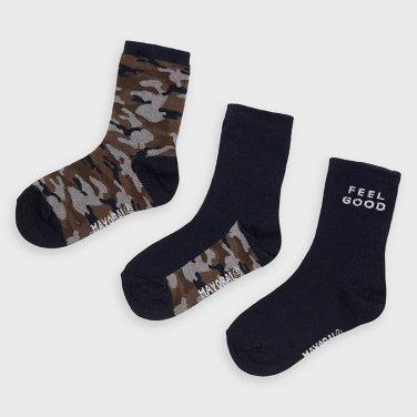 """Σετ 3 ζευγάρια κάλτσες """"Feel Good"""" μπλε"""