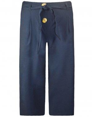 Παντελόνα Ζιπ κιλότ μπλε
