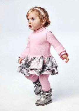 Φόρεμα καρό ροζ