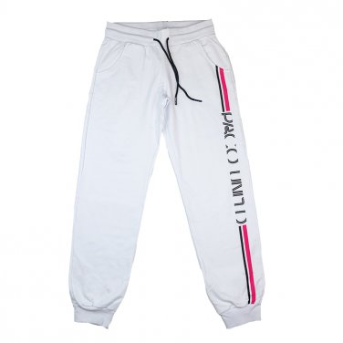 """Παντελόνι φόρμας εποχιακό """"Side Stripes"""" λευκό"""