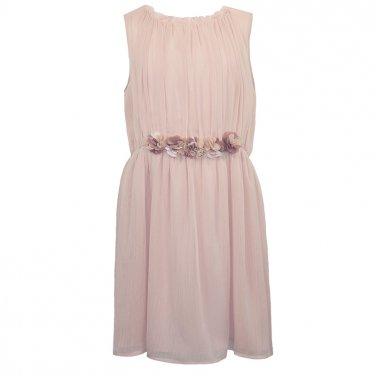 Φόρεμα με κεντητά λουλούδια σομόν