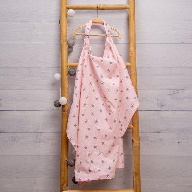 Ποδιά θηλασμού ροζ 105Χ65 cm