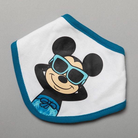 """Σετ βερμούδα 3 τμχ """"Mickey surfing"""" λευκό"""