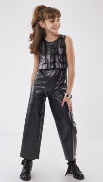 """Ολόσωμη φόρμα """"Black Leather"""" μαυρή"""