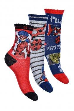 """Σετ 3 ζευγάρια κάλτσες """"Lady Bag"""" κόκκινο"""