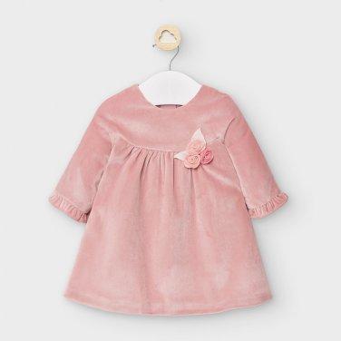 Φόρεμα βελουτέ ροζ