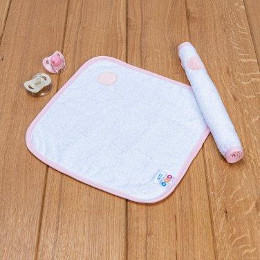 """Λαβέτα """"Balloon"""" λευκό-ροζ (30Χ30)"""