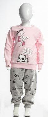 """Πυτζάμα """"Sleeping panda"""" ροζ"""