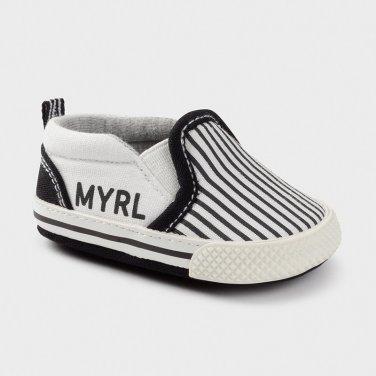 Παπούτσια με ρίγες μαύρο
