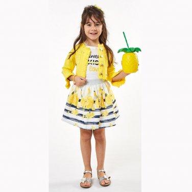 Σετ φούστα 3 τμχ κίτρινο
