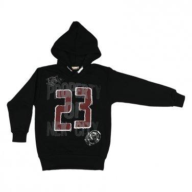 """Μπλούζα φούτερ μαύρο """"23"""""""