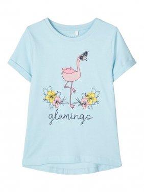 """Μπλούζα """"Flamingo"""" γαλάζια"""
