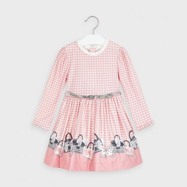 """Φόρεμα """"Ladies Bags"""" ροζ"""