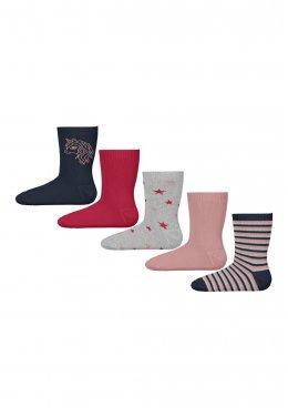 """Σετ 5 ζευγάρια κάλτσες :Unicorn"""" μπλε"""