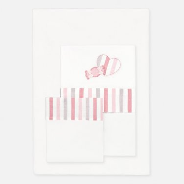 """Σετ σεντόνια κούνιας """"Candy heart"""" (160Χ110)"""