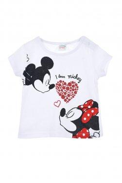 """Μπλούζα Disney """"I Love Mickey"""" λευκή"""