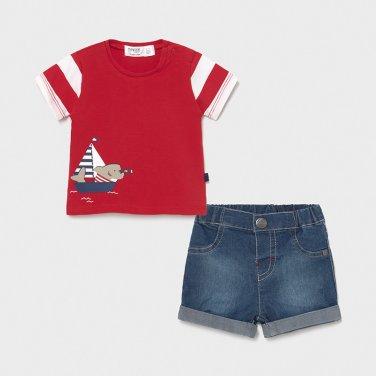 """Σετ σορτς """"Shark fisherman"""" κόκκινο"""