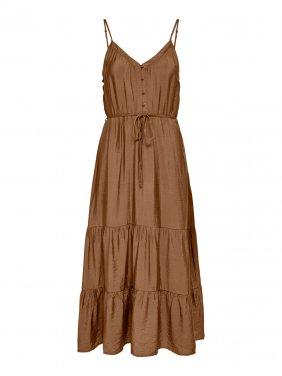 Φόρεμα MIDI καφέ
